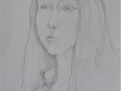 Гаврилина Алена, 14л., Подружка, б., карандаш, Литвинова Е.Ю.