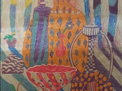 Гладких Кристина, 7 лет, Цветное стекло, бумага гелевые ручки г. Нижний Тагил ДШИ № 1