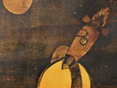 Гурьянов Андрей, 13 л., Где-то там..., цв. гравюра на картоне, Хасанов В.Ю.